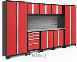 Newage Products Bold Series Red 9 Piece Set, Garage Cabinets, 56290