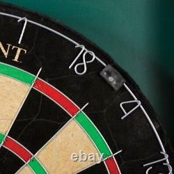 OFFICIAL SIZE BRISTLE DARTBOARD Cabinet Dart Set 18 Sisal Board Steel Tip Darts