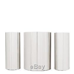 Original Paul Evans, Set of Three Custom Polished Steel Cylinder Cabinets, 1980s