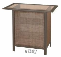 Outdoor Bar Set Table Stool Shelves Drinks Patio Waterproof Weather Cabinet Deck
