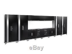 Performance 2.0 Series 14 Piece Storage Cabinet Set Black Stainless Steel