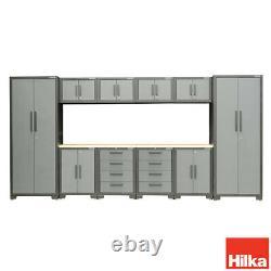Professional Mechanics 11 Piece Modular Steel Cabinet Set Garage Tool Storage