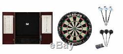 Set Bristle Dartboard + Mahogany Steel Tip Cabinet + Razor/Wizard Tungsten Dart