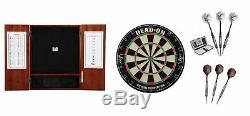 Set Bristle Dartboard + Steel Tip Dartboard Cabinet + Diva/Celtic Darts