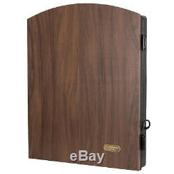 Set Electronic Premium Bristle Dartboard Cabinet 6 Steel Tip Dart Board Game New