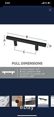 Set of 25 5.3 Matte Black Drawer Pulls
