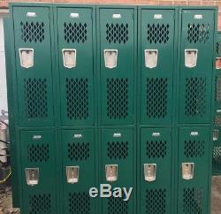 Sets of 10 Steel Metal Gym School Lockers Storage Employee Cabinet