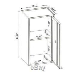 Smart 25.19 in. H x 13.77 W x 11.22 D Floating Cabinet in Blue Set