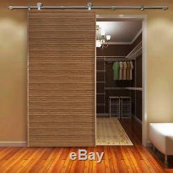 Stainless Steel Modern Wood Sliding Door Hardware Set Closet Cabinet Kitchen US