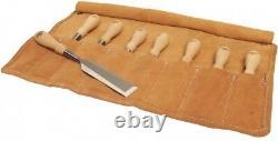 Stanley 8-Piece Socket Chisel Set 750 Series Hornbeam-Wood-Handle Leather Wrap