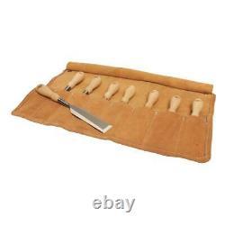 Stanley Socket Wood Chisel Set Hornbeam Wood Handle Chrome Steel Tool 8 Piece