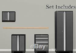 Steel Garage Cabinet Set Storage Shelves Cupboards Mechanic Shop Tool Box Locker