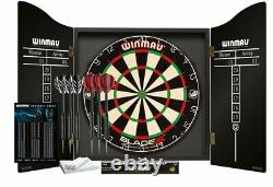 (TOP QUALITY) Bristle Winmau Blade 5 Championship Dartboard, Cabinet Darts Sets