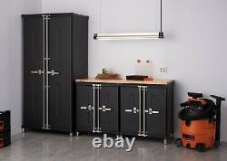TRINITY PRO TSNPBK-0615 4-Piece Garage Cabinet Set Black