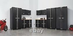 TRINITY PRO TSNPBK-0618 13-Piece Garage Cabinet Set, Black