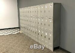 Used Lyon Brand Metal Locker Tower Set (3 Lockers Stacked)