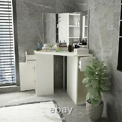 Vanity Set Storage Cabinet Makeup Table Dressing Table With Drawer
