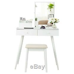 Vanity Table Set Dressing Table Set Lockable Jewelry Cabinet With Mirror