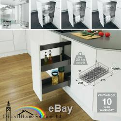 Vauth-Sagel VS SUB Side Pull Out Kitchen Storage Basket Set 300mm Cabinet Width