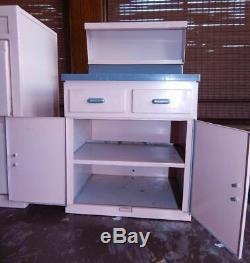 Vintage 50s doll Structo GE Replica Pink Steel Kitchen Stove sink cabinet set