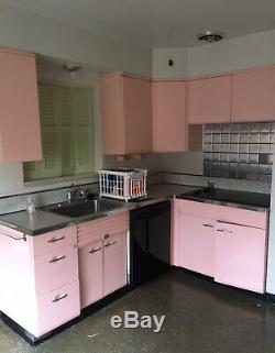 Vintage Beauty Craft Steel Kitchen Cabinet Set Great Condition Amazing Price