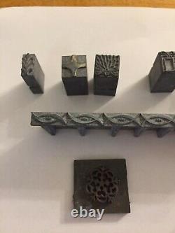 Vintage Letterpress Set Complete Alphabet Printing Set & Cabinet