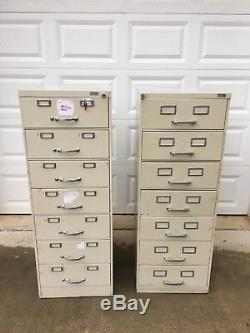Vintage Library Card Catalog Cabinet- Steel (Set of 2) Local pickup ONLY