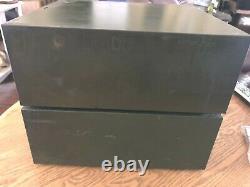 Vintage Set-2 Steel Metal Green Library 2 Drawer File Card Catalog Cabinet ASCO