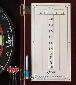 Viper Hudson Sisal/Bristle Steel Tip Dartboard & Cabinet Bundle Elite Set