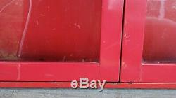 Vtg Snap On Tools Red Wall Cabinet Storage Toolbox Puller Set Cabinet Display