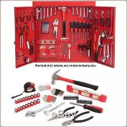 Wall Mount Cabinet Tool Kit Metal Cabinet Tool Organizer Set 151 Piece Kit