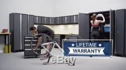 Warehouse Steel Cabinet Set Workshop 12PC Car Garage Metal Storage Furniture RED