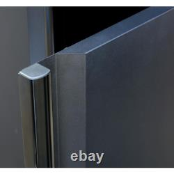 Welded 109 In. W X 75 In. H X 19 In. D Steel Garage Cabinet Set In Black 6-Piec