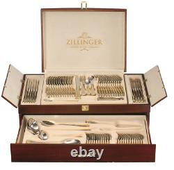 Zillinger Gold Heavy 72 Piece Cutlery Set Stainless Steel Canteen Christmas