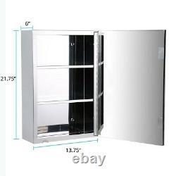 22 Armoire De Médecine En Acier Inoxydable Mirror Wall Mount Set De 2