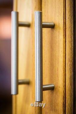 25-500 Poignée D'armoire De Cuisine En Acier Inoxydable Brossé T Barre Quincaillerie 4 5 6