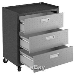 3-pc Forteresse Mobile Space-saving Garage Situé Dans Gray ID 3788442