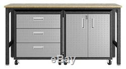 3-pc Steel Space-saving Garage Situé Dans Gray ID 3788440