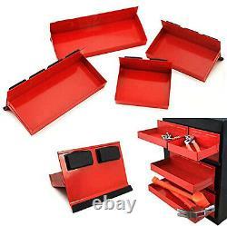 4pc Magnetic Tool Tray Shelf Toolbox Set Bin Storage Cabinet Van Workshop Nouveau