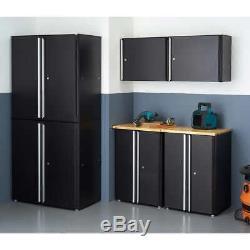 6 Pièces Garage Cabinet Set Portes Verrouillables En Acier Durable Magnétiques Pênes Dormants