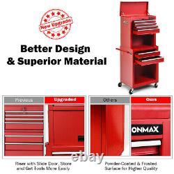 6-drawer Rolling Tool Cost Cabinet Boîte À Outils Combo Kit De Verrouillage Avecriser Rouge