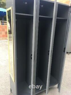 78 Tennsco 18 Profondeur Steel Locker 3 Jeu De Porte 46 Casiers Gray Storage Cabinet