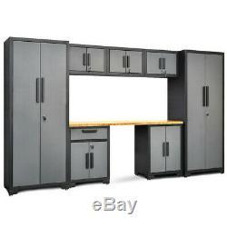8 Pcs Bamboo Plan De Travail De 24 Gauge Garage Armoire De Rangement Set Tl35121 + Wc