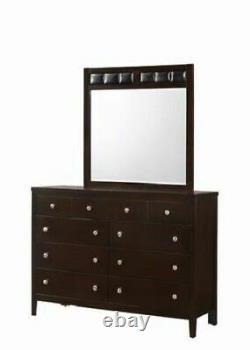 8 Tiroirs Dresser Mirror Set Chest Coffre Coffre Luxueux Rangement De Meubles Pour La Maison