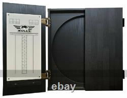 Accueil Darts Set Deluxe Cabinet, Diamond Plus Dartboard Et 6 Fléchettes Steel-tip