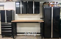 Armoire De Garage En Acier, 98 Po X 108 Po X 24 Po En Noir (6 Pièces)