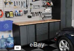 Armoire De Garage En Acier Étagères De Rangement Armoires Mécanicien Casier De Boîte À Outils D'atelier