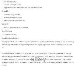 Armoire De Rangement En Prime Pour Organisation De Garage, Acier Solide, 8 Pièces, Platine