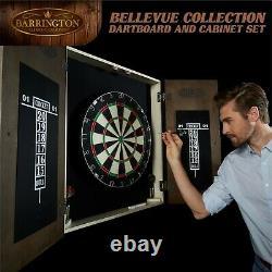 Barrington Bellevue Collection Bristle Dartboard Armoire, Fléchettes À Pointes D'acier, B