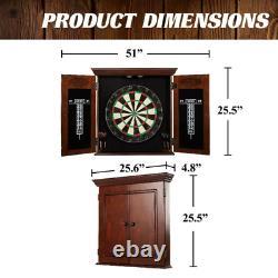 Barrington Chatham Bristole Dartboard Cabinet Set, Fléchettes En Acier, Brun